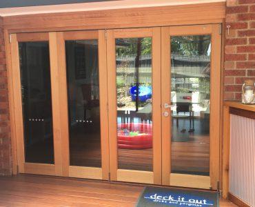 EXTERNAL TIMBER DOOR/WINDOWS/BAR AREA